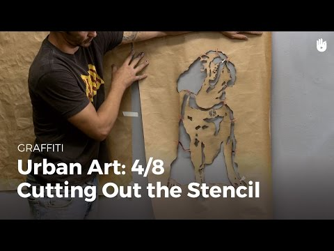 Urban art: cutting out the stencil