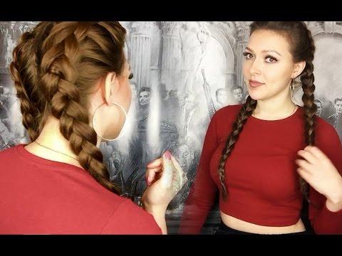 перевернутые французские косы / Kardashian double dutch braid