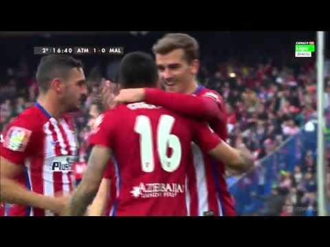 Atletico Madrid vs Malaga 1-0 Resumen Gol La Liga 23.04.2016