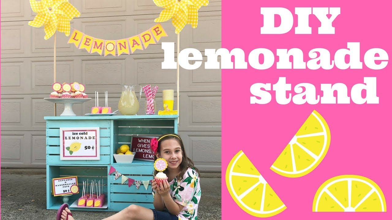 How to build a DIY Lemonade Stand