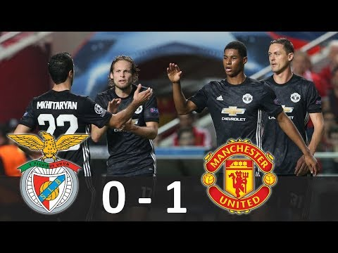 Benfica vs Manchester United 0-1 - Hasil Champions League 19/10/2017 - Highlights Extended HD
