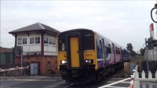 Trains At Parbold Level Crossing