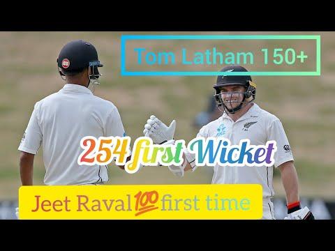 Jeet Raval First 💯 & Tom Latham 150 record Breaking Score
