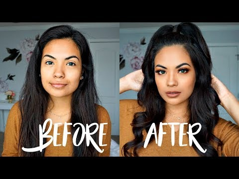 EASY FALL MAKEUP AND HAIR FOR BEGINNERS thumbnail