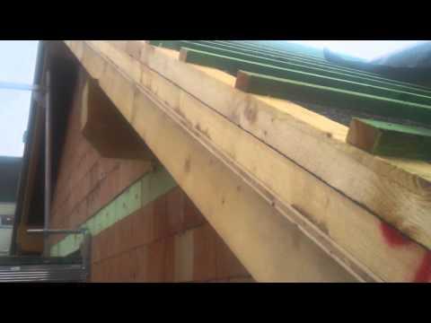 Sehr Ortgang am Giebel, wird anschließend mit Blech verkleidet - YouTube LO26
