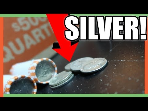 COIN ROLL HUNTING FOR SILVER!! VALUABLE QUARTERS TO LOOK FOR!