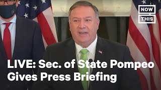 Sec. of State Mike Pompeo Holds Media Briefing on Iran | LIVE | NowThis