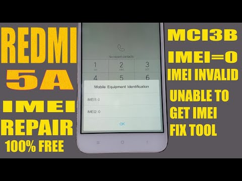 REDMI 5A IMEI REPAIR WITH FREE TOOL NO BOX