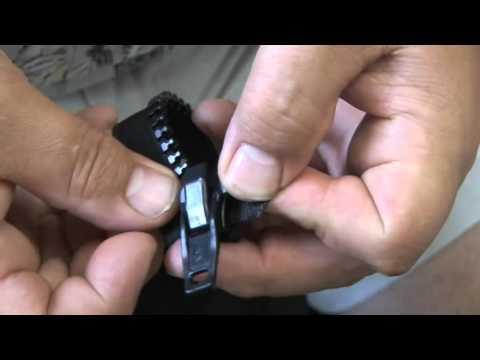 Installing a Zipper Slider or Puller on a Zipper