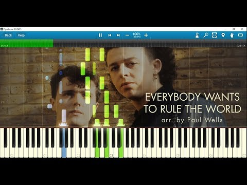 Tears for Fears - Everybody Wants to Rule the World (piano arr. by Paul Wells) w/ sheet music