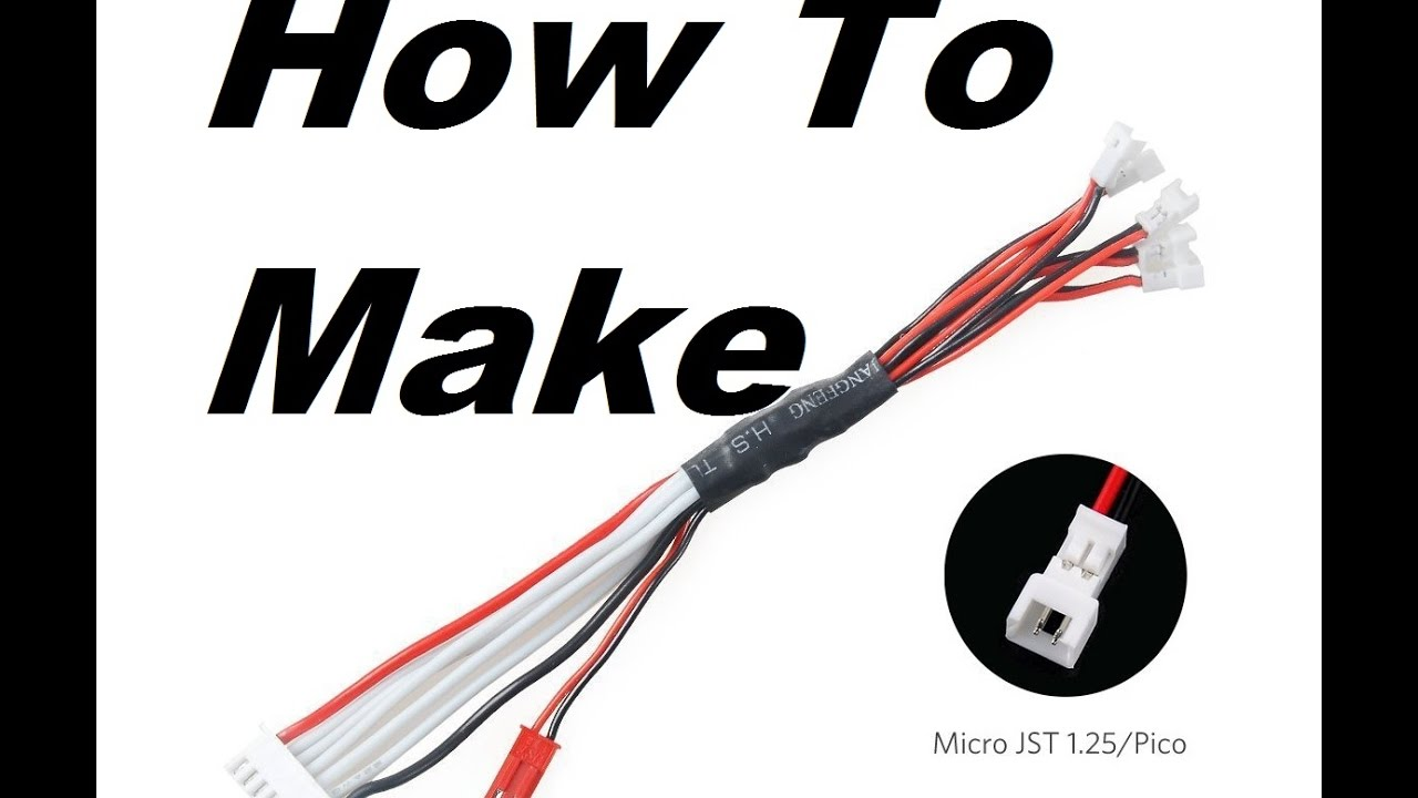 How To Make A Lipo Balance Serial Cable For Tiny Whoop Inductrix Wiring Rc Batteries Parallel Charge 1s Not