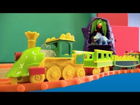 Поезд Динозавров. Игрушки для Детей. Мультфильм про поезд