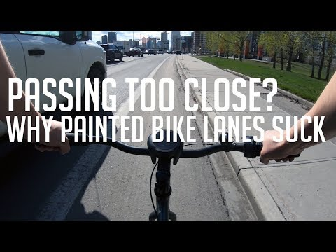 Testing the most dangerous roads | Why painted bike lanes suck