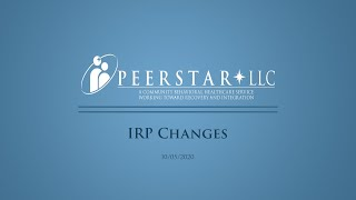IRP Changes 10/05/2020