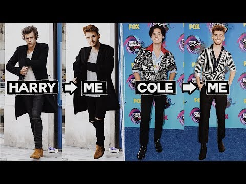 RECREATING CELEBRITY OUTFITS FOR LESS 💰 Harry Styles, Zayn Malik, Cole Sprouse // Imdrewscott