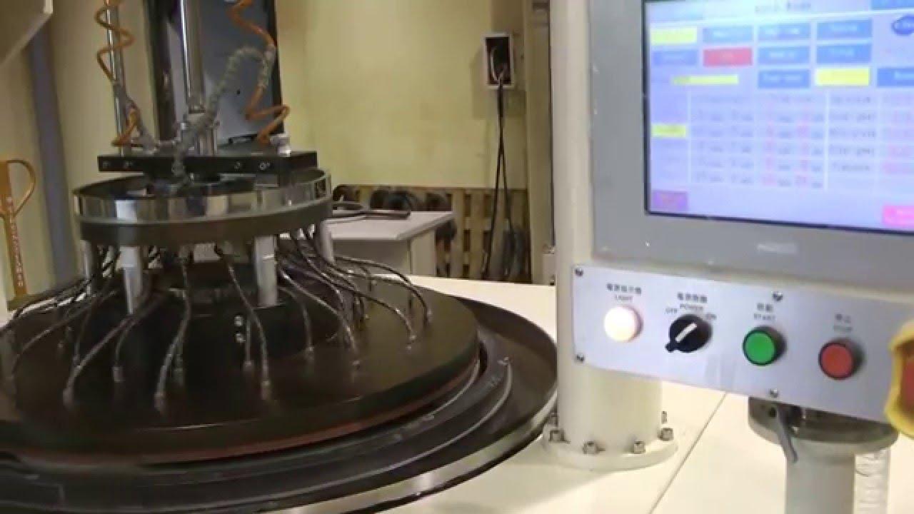 雙面研磨拋光機 Double side lapping machine and polishing machine - YouTube