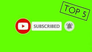 Top 5 || Green Screen Animated Subscribe Button || JUST4U OFFICIAL || IMRAN RAJPOOT