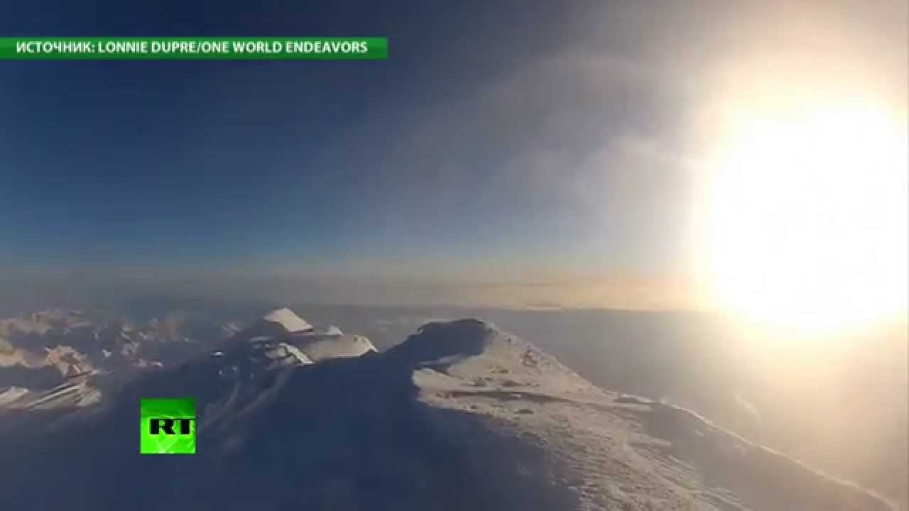 Альпинист из США заснял на видеокамеру свое восхождение на гору Мак-Кинли