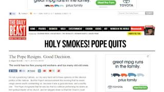 Pope Benedict XVI's Farewell Speech to Fans Removed from Facebook