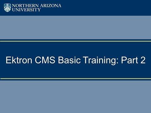 Ektron CMS Basic Training: Part 2