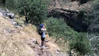 josh yodeling rosh hashana chanzanus into nachal yehudia canyon / gorge