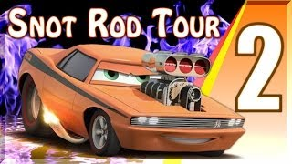 Snot Rod Tour Cars 2 The Video Game Battle Race Series Gameplay - Oil Rig Run Stage 2