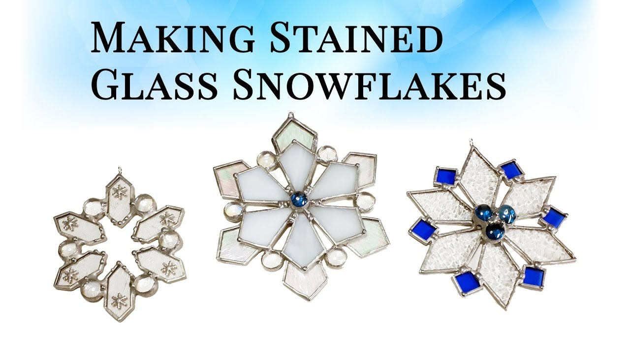 Livestream from Make Stained Glass Facebook Group - Stained Glass Snowflake  Tutorial for Beginners