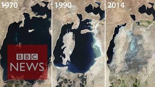 Aral Sea: Man-made environmental disaster - BBC News(Subscribe to BBC News www.youtube.com/bbcnews It took just 40 years for the Aral Sea to dry up. Fishing ports suddenly found themselves in a desert., 2015-02-25T11:40:47.000Z)