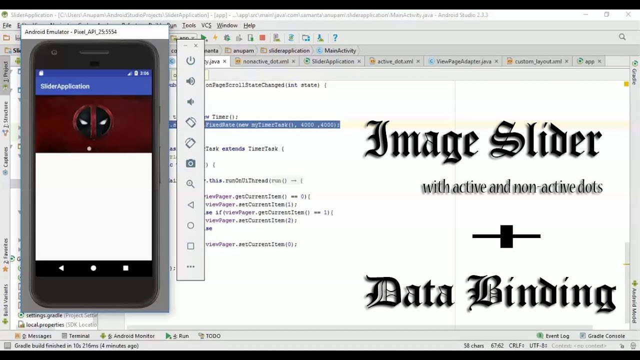 Android Image Slider with dots + Databinding Tutorial