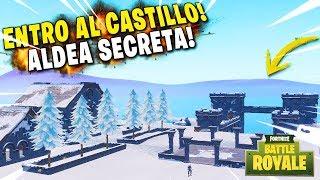 J'entre dans le château SECRETO sur la glace! FORTNITE Battle Royale Bibliothèque - Village SecretA!