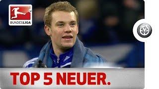 Manuel neuer - top 5 moments - schalke 04 vs. bayern münchen