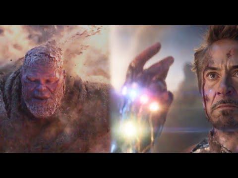 钢铁侠打响指灭霸化成灰烬,一代宇宙强者双双身亡!