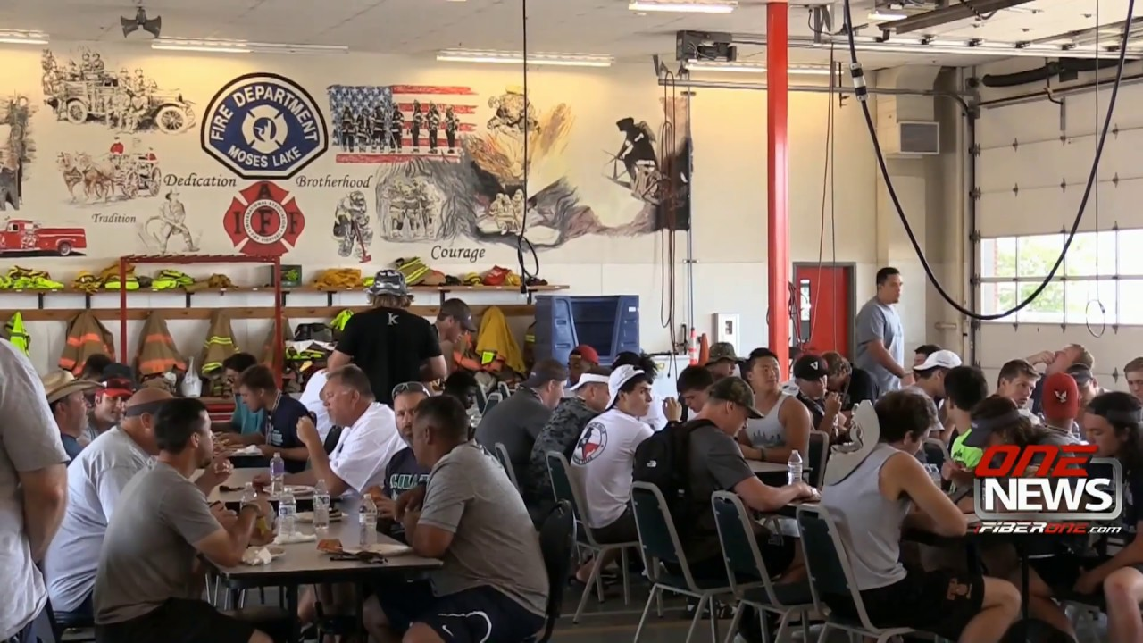 Moses Lake Firefighters Host Barbecue For East West All State Teams