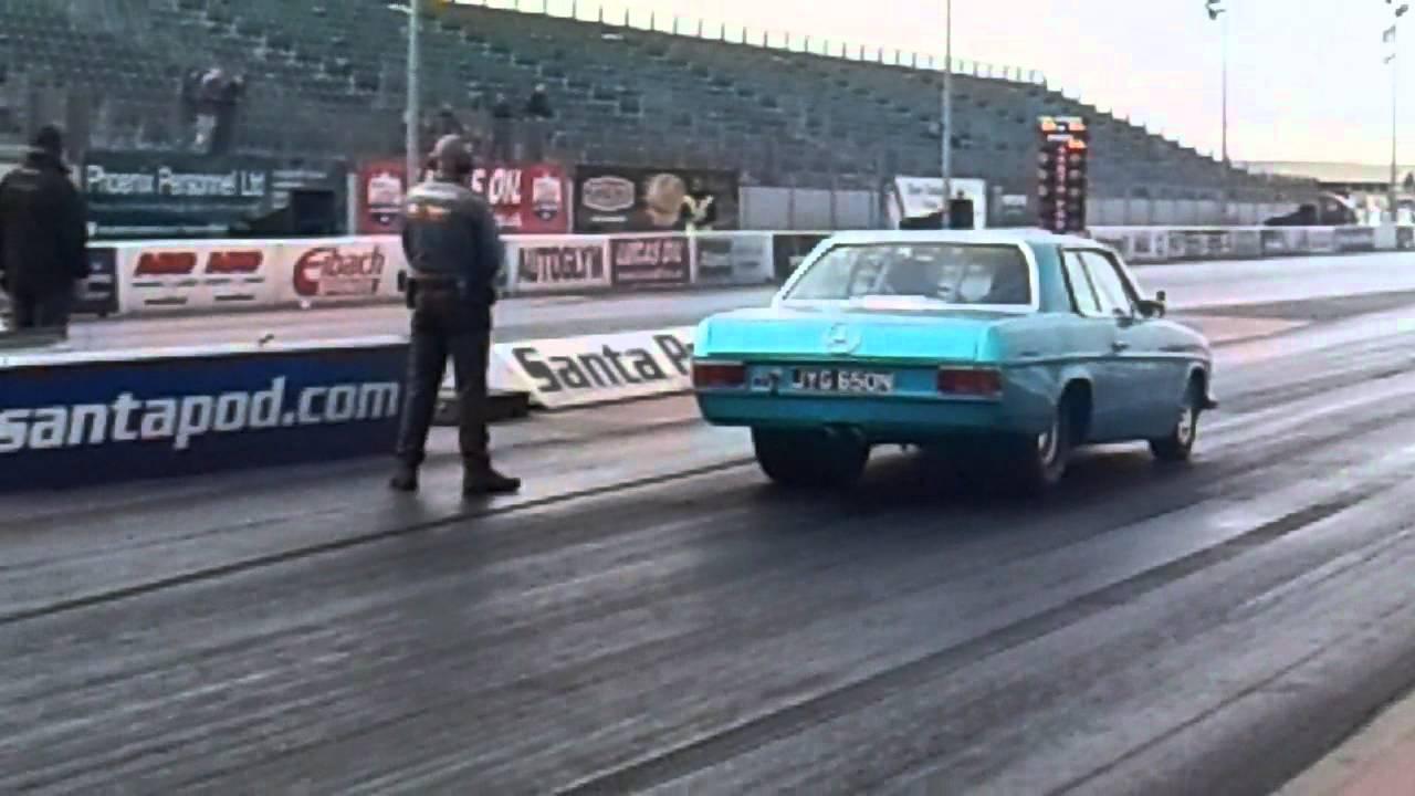 redneck racing mercedes drag car - YouTube