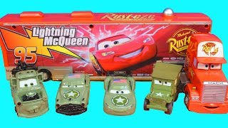 Download Disney Cars Pixar Army Car McQueen Mater Doc and Sarge Battle Imaginext Lemons Mission Complete Mp3 and Videos