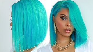 LET 'S MAKE A  BOB WIG | TIFFANY BLUE HAIR