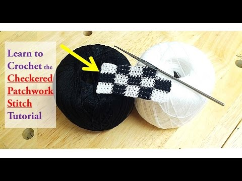 How to crochet Checkered Patchwork Stitch | Checkerboard sti