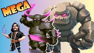 Clash of Clans: ATAQUE MEGA con ayuntamiento 8 🌟🌟🌟 ATAQUE PERFECTO CON GOLEMS, MAGOS Y PEKKAS!