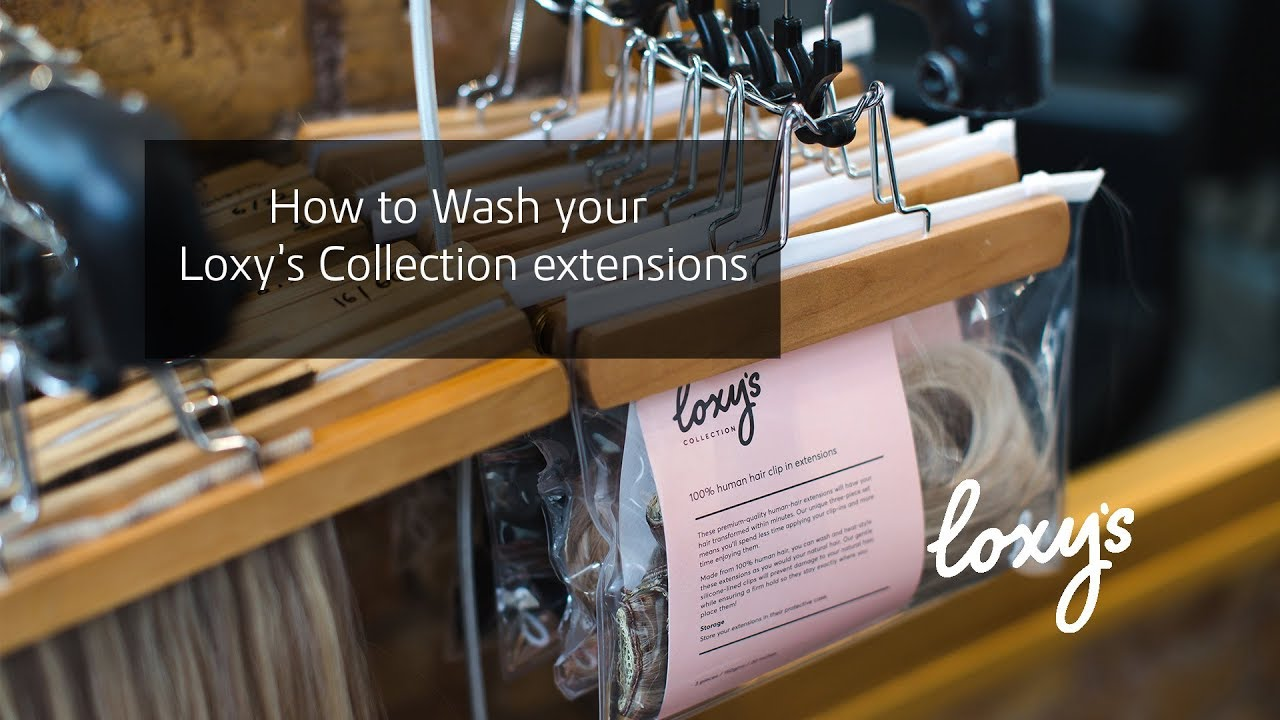 Washing Your Loxys Collection Clip In Extensions Youtube