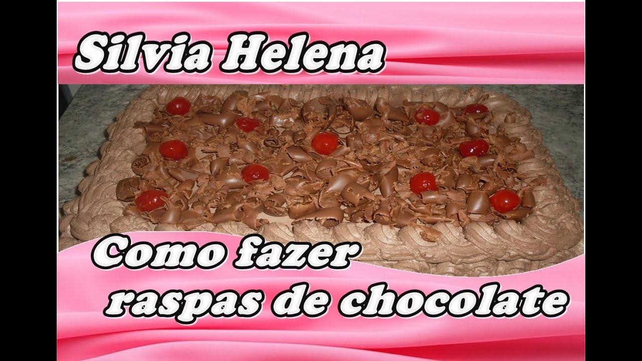 Raspas de chocolate para decoraç u00e3o de bolo POR SILVIA HELENA YouTube