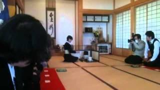 小鹿野町 正永寺で行なわれたお茶会の様子です。