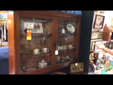 Antique tiger maple furniture at Gannon's antiques and art