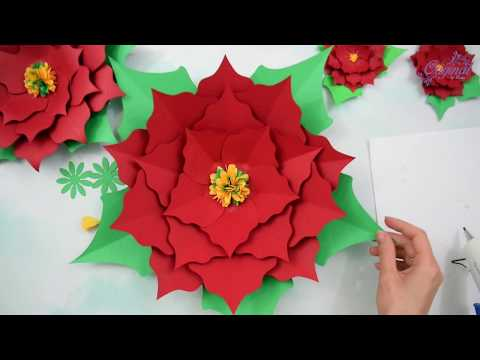 Learn To Make Poinsettia Paper Flower || DIY Christmas Decor || Christmas Flower || DIY  Projects