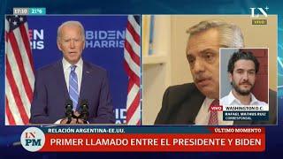 Fernández charló con Biden, en busca de una nueva relación con Estados Unidos