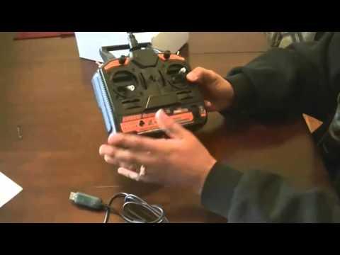 Radio Controle  HK T6A V21 Hobbyking - aeromodelo - 6 Canais