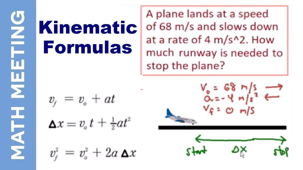 kinematics physics intro and example problem youtube