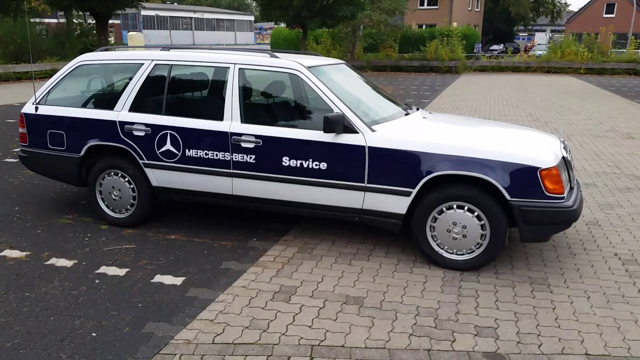 1986 mercedes benz 300td w124 service wagen roadside for Mercedes benz repairs