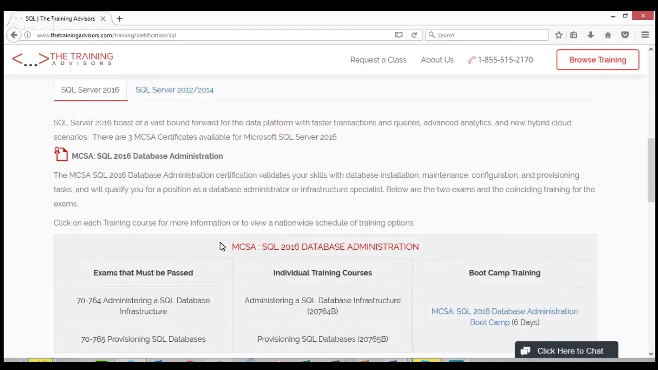 Sql Server 2016 Certification Youtube