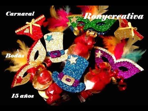 Como hacer distintivos para fiesta de carnaval youtube - Como hacer adornos para fiestas ...
