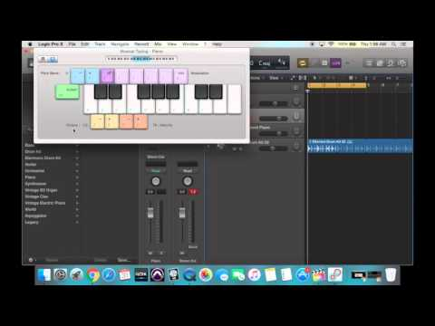 Logic Pro X Tutorial - How to Use Software Instruments & Musical Typing